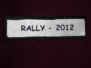 """One in the Eye Rally 2012"" Patch"
